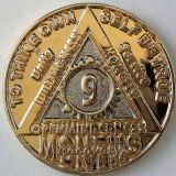 Anniversary Months Gold & Nickel Bi-plated AA Medallion