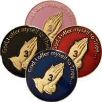3rd Step Prayer AA Coin with Choice of Color