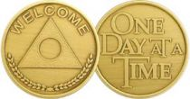 Al-Anon Welcome One Day At A Time Bronze Coin