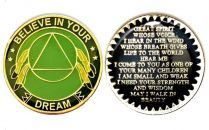 Believe in your Dreams Recovery Medallion with Great Spirit Prayer