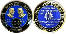 Clearance Blue Bill and Bob SOS God Centered 24 Hour AA Coin