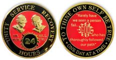 Clearance Red Bill and Bob SOS God Centered 24 Hour AA Coin