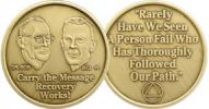 Bill & Bob Carry the Message Bronze AA Coin