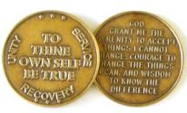 Antique Bronze To Thine Own Self Be True Recovery Coin