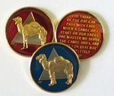 Camel bsp Tri-Plated Medallion