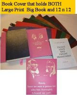 Giant Print Double Deluxe Book Cover-Bill & Bob- Medallion Holder