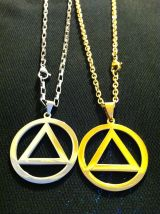 Large Eminem style Recovery Symbol Necklace