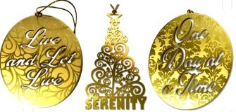 Recovery Slogan Ornaments