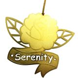 Serenity Rose Tattoo Style Engraved Ornament