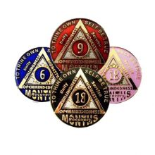 AA Anniversary Months Tri-plated Sunlight of the Spirit Coin