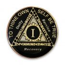 12 Jewel Black Tri-plated Sunlight of the Spirit AA Coin