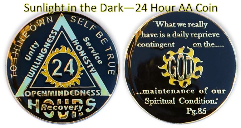 Light in the Dark-Daily Reprieve 24 Hour SOS AA Coin