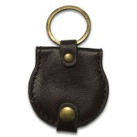 Leather Key Ring double coin holder
